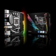 ASUS Intel LGA-1151 mini-ITX H270 gaming motherboard with double-decker heatsink, Aura Sync RGB LED, dual