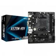 ASRock Main Board Desktop A520M-HDV 90-MXBE50-A0UAYZ