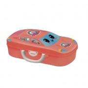 Set de joaca 2 in 1, Kitchen Set Mini Sports Car DIY cu 18 piese, Pink