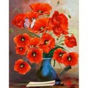 Tablou Canvas Maci rosii 60 x 80 cm Rama lemn Multicolor
