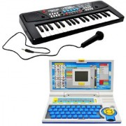 New Pinch Combo of 37 Key Piano Keyboard Toy with DC Power Option Recording and Mic with English Learner Educational La