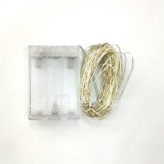 5m 50LED 3AA batterijen waterdichte decoratie geleid koperdraad lichten string voor kerst festival huwelijksfeest