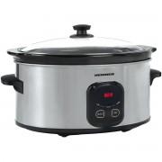Slow Cooker Heinner HSCK-C57IX, 5.7 L, 220 W, Control Electronic, Timer, Inox/Negru