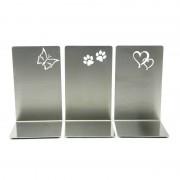 RVS staander met Hart, Pootafdruk of Vlinder