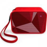 Безжична портативна колонка Philips Bluetooth, Червена, BT110R