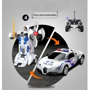 Magicwand 1:14 Scale R/C One Button Car to Robot to Car Converting Bugatti Police Robot