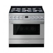 SMEG Cucina Con Piano A Gas E Forno Pirolitico Multifunzione Portofino Classe A+ Inox Cpf9gpx