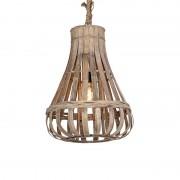 QAZQA Lampada a sospensione rustica in legno con corda 44cm - EXCALIBUR