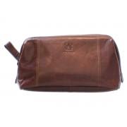 Necessär B Away Leather Brown – utan gravyr