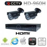 CCTV sety 960H s 2x bullet kamery s 20m IR + DVR s 1TB HDD