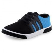 World WEAR Mens Blue Lace-up Smart Casuals