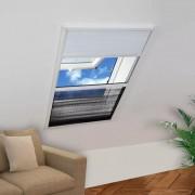 Sonata Алуминиев плисе комарник за прозорци със сенник, 60x80 см