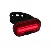 Merkloos 1x Fietsachterlicht / achterlamp fietsverlichting COB LED met bevestigingsband