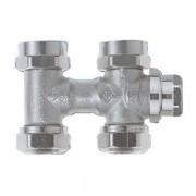 Heimeier Vekolux onderblok 2 pijps 3 4 50mm recht voor radiator bui.dr. 053250000