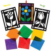 Baker Ross Flower Stained Glass Decoration Kits (Pack of 6)
