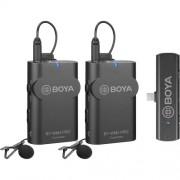 Sistem wireless Boya BY-WM4 PRO-K6 cu 2xMicrofon lavaliera 2xTransmitator si Receiver Android Type-C