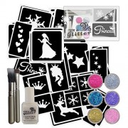 Snowflake Princess Glitter Tattoo kit perfect for FROZEN parties contains: 60 Stencils
