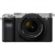 Sony Alpha A7C Aparat Foto Mirrorless Full Frame 4K Video 24.2MP Kit cu Obiectiv FE 28-60mm F4-5.6 Silver