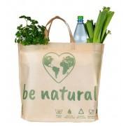Be Natural PP Vlies nem szőtt anyagú többször használható bevásárlótáska, környezetbarát és mosható (500 x 400 + 75 mm)