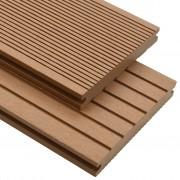 vidaXL Panneaux de terrasse solides et accessoires WPC 30 m² 4 m Teck