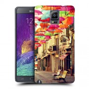 Husa Samsung Galaxy Note 4 N910 Silicon Gel Tpu Model Vintage Umbrella
