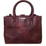 Navshi Women Maroon Genuine Leather Hand-held Bag