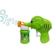 Elephant GREEN TOON HAND PRESSING BUBBLE MAKING TOY GUN