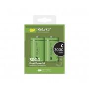 2 buc Baterii reîncărcabile C GP RECYKO+ NiMH/1,2V/3000 mAh
