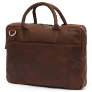 Lucleon Sac Montreal Executive 13 pouces en cuir marron