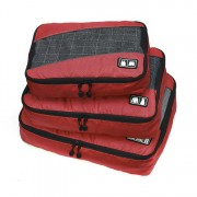 Edge Travel [3 Pack] Packing Cubes Bag Red