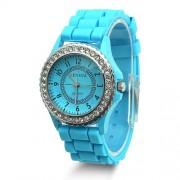 silikonové hodinky geneva Barva:: Modrá