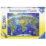 Ravensburger Pussel - Världens landmärken 200 bitar XXL
