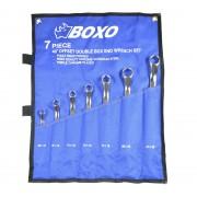 Klucze oczkowe gięte BOXO 7szt.