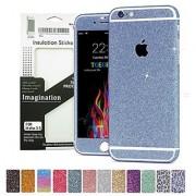 Toeoe Full Body Bling Crystal Diamond Shinning Screen Protector Film Sticker for Iphone 6 Plus/6s Plus (Blue)