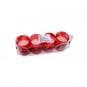 Candela rezerva plastic rosie 18 ore 4/set