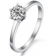 Troli Ocelový prsten s krystalem KRS-126 52 mm