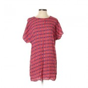 Forever 21 Casual Dress - Mini: Pink Print Dresses - Used - Size X-Small