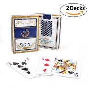 2 Decks Play Cards, Porkect Regular Size Cards for Playing,Party, Picnic and more(Blue)
