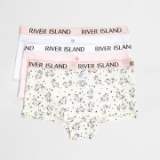 River Island Girls Pink unicorn print hipsters multipack
