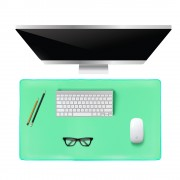 Large Office Computer Desk Modern Table Mouse Pad Plush Wool Desk Gamer Mousepad Mat, Size: 80x39cm - Green