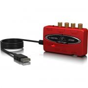 Behringer UCA222 U-Control Interface de Áudio UCA-222 2x2 16-Bit 48-Khz S/pdif Usb