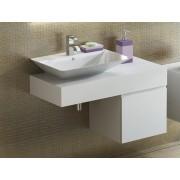 Antado Combi szafka lewa z blatem lewym i umywalką Libra biały 666566/667747/666863