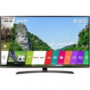 Televizor Smart LED LG 123 cm Ultra HD 49UJ634V, WiFi, USB, CI+, Black