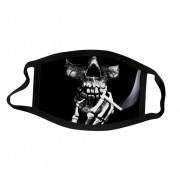 Ochranné rúško na tvár 100% polyester - Smoking skull