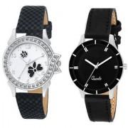Fancy Black Diamound Designing With Cutglass Black Best Designing Stylist Looking Analog Watch For Women