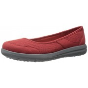 Clarks Women's Jocolin Myla Flat, Red Perforated Microfiber, 6. 5 M US