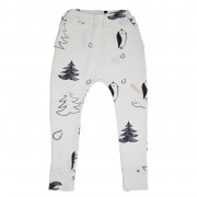 Pantaloni Playground - alb, 4-6 ani