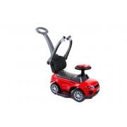 Masinuta pentru Plimbat Copii 3-in-1 cu Maner, Volan si Protectie Anti-Cadere, Culoare Rosu