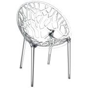Moderne transparante stoel 'GEO' uit kunststof