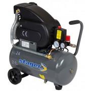 Compresor de aer Stager HM2024F, 24L, 8bar, 200L min, 220V, angrenare directa